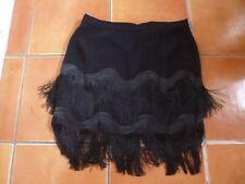 BNWT WHISTLES BLACK FRINGED SKIRT 16