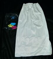 Vintage Movie Star Half Slip Skirt New White Antron Nylon M Slit NIB Lingerie