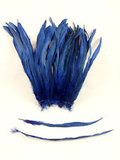 "10 ROYAL BLUE DYED SOLID ROOSTER TAILS CRAFT MILLINERY FEATHERS 8""-10""L"