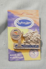 #P58.  SYDNEY 2000 OLYMPIC COUNTDOWN PIN - 1 MONTH  TO GO, PEWTER