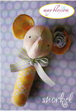 PATTERN - Snorkel - cute and easy elephant rattle mini PATTERN - Creative Card