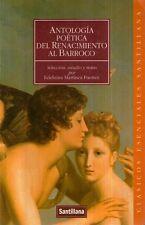 A10 Antologia poetica del renacimientoal Barroco IN SPAGNOLO