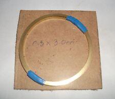0.5mm x 3mm x  2 metres Precision Slit Brass strip in coil Grade CZ108