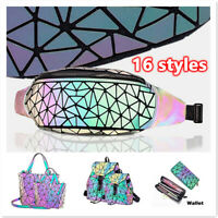 Geometric Backpack Color Changes Flash Reflective Crossbody Bag Fashion Shoulder