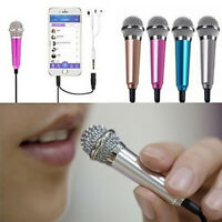 FJ- Mini Karaoke Condenser Wired 3.5mm Microphone Mic Mobile Phone For Android S