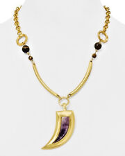 STEPHANIE KANTIS AMETHYST Claw Necklace Pendant NEW in Box Orig $245.