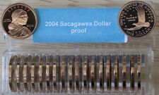2004-S  SAC$  Sacagawea Dollar (20) Frosty Cameo Proofs In Free Coin Keeper