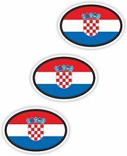 Nationalitätenkennzeichen 3x Croatia Kroatien Aufkleber Autoaufkleber Motorrad