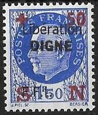 LIBERATION..RRR...DIGNE ..+50c sur 1f50.outremer (552). Dle Sge...Signé...