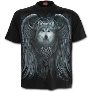 SPIRAL DIRECT WOLF SPIRIT T-Shirt Goth/Rock/Metal/Wings/Moon/Animal/Wolves/Tee