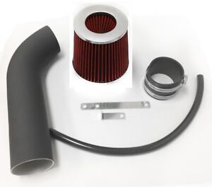 Coated Black Red For 1993-1998 Jeep Grand Cherokee 5.2L 5.9L V8 Air Intake Kit