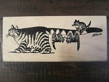 Rubber Stamp Kliban Cat Tail Hanging Kitties American Art Stamp scrapbooking
