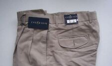 Mens Pants Pleated Front Cuff bottoms  Light Tan 36 x 30
