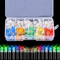 200pcs 10 value Six Colors 5mm Round Bright Light LED Diode Lamp Assortment kit