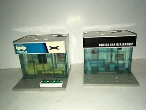 Tomy Tomica Car Dealership 2 Buildings 2008