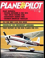 Plane & Pilot Magazine November 1973 Cessna Skyhawk II EX No ML 112916jhe