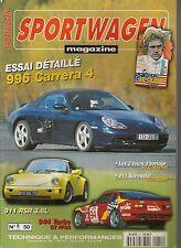 SPORTWAGEN 51 ESSAI PORSCHE 996 C4 CABRIOLET 964 RS 3.8 944 TURBO CUP 911 SPEEDS