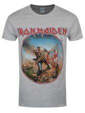 Iron Maiden T-shirt Trooper Vintage Circle Men's Grey