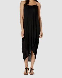 $295 American Rose Women's Black Brielle Spaghetti Strap Maxi Dress Size S