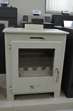 Wood Burning Stove Ivory Color Top Flue 6-8 kW Fireplace Wood / Coal Log Burner