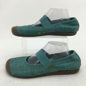 Keen Sienna Mary Jane Comfort Shoes Womens 11 Blue Canvas Casual Slip On 1004654