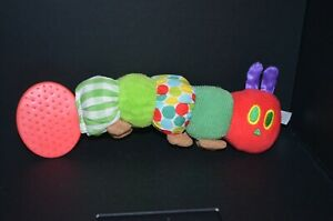 The Very Hungry Caterpillar Teether Rattle Plush Toy Eric Carle Caterpiller