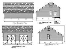 26'x32' Salt Box Pole Barn Salt Box 32'X26' Shed Garage Plan #17-Pb2632Sb-1