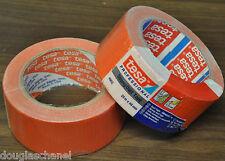 1 x tesa 4662 duct tape Gewebeband putzband wasserfest 48mm x 25m Orange