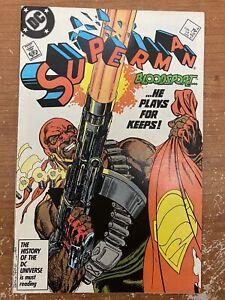 Superman #4 Vol 2 - 1st Bloodsport The Suicide Squad Idris Elba 1987 John Byrne
