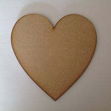 6 X Large wooden hearts 20cm,6mm thick.