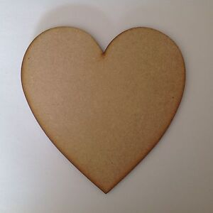 hearts 30cm,Large wooden,6mm thick. no holesx3