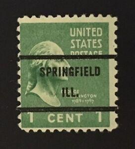 Springfield, Illinois Precancel - 1 cent Prexie (U.S. #804) IL