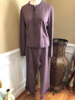 nwt St. John Collection berrywood knit jacket /pant 2pcs  outfit suit 8/10 (o100