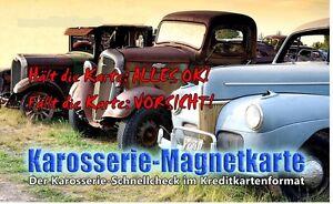 Karosserie Magnetkarte, Magnet, Unfall, Checker, Spachtel Lack Prüfer,Check Grip
