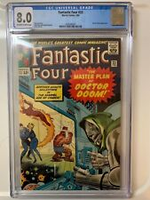 FANTASTIC FOUR 23 CGC 8.0 VF OW-WHITE PAGES!  LEE & KIRBY RETURN OF DR. DOOM