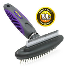 Pet Comb & Deshedding Tool By Hertzko, 2 in 1 Great Tool, Gently Removes Loose.