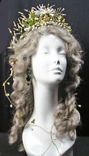 ROMANTIC 1920's  WEDDING BRIDAL WAX PETALED BUDS TIARA HEADPIECE