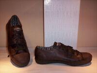Bikkembergs scarpe sportive basse sneakers casual uomo pelle marroni shoes 40