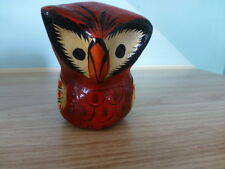 VINTAGE  MEXICAN FOLK ART HAND MADE COLORFUL PAPER MACHE 3 inch OWL