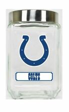 Indianapolis Colts Jar Glass Canister Large Container With Lid Duckhouse NFL