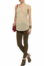 New Zadig & Voltaire Tandoori Printed Cotton Top Size L (UK 14) RRP £ 95