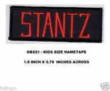 STANTZ GHOSTBUSTERS KIDS SIZE NAMETAPE PATCH - GBS21