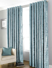 Bliss Luxury Crushed Velvet Blackout Ring Top Eyelet Pair Ready Made Curtains