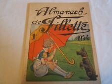 almanach de fillette ancien  1934 société parisienne d'édition