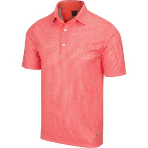 Greg Norman Mens Protek ML75 Microlux 2Below Tee Print Polo Golf Shirt -New 2021