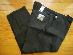 Dockers Men's Signature Khaki Big & Tall Flat Front Pants 50 x 30 NEW Black