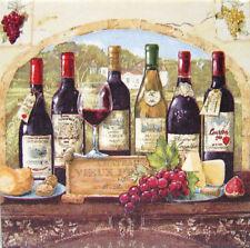 Deko Wandbild Vintage Toskana Anrichte Wein Weinflaschen Käse Bild Geschenkidee