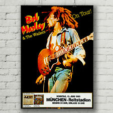 Bob Marley and the Wailers Germany concert poster canvas print