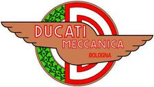"#z2047 (1) 3.5"" Ducati Meccanica Racing Classic Vintage Decal Sticker LAMINATED"