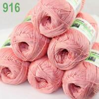 6Skeins X 50g Baby Natural Smooth Soft Bamboo Cotton Knitting Yarn Knitwear 16